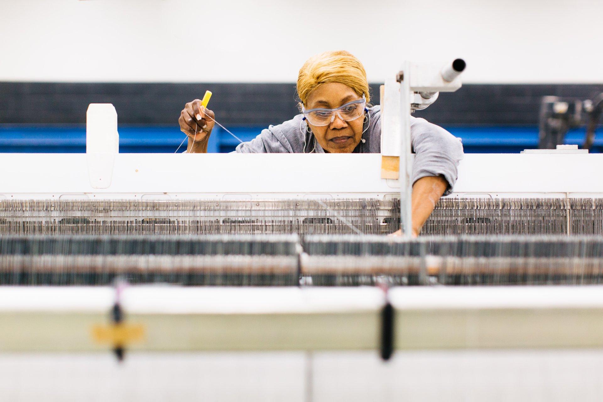 woman working in weaving plant 3-1